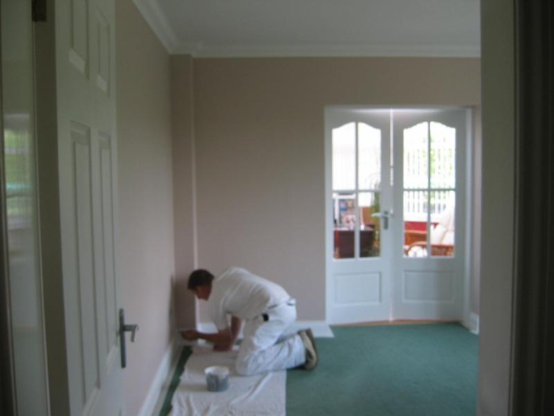 Internal wall decoration in progress by Hayselden Decorators Barnsley. Interior decorating projects by Hayselden Property Decorators